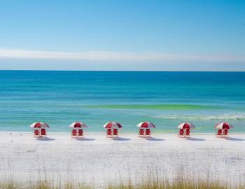 Florida Gulf Beach with Beach Chairs