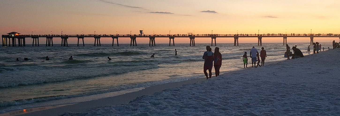 Wayside Park Sunset | Okaloosa Island Beaches | Destin West Vacations
